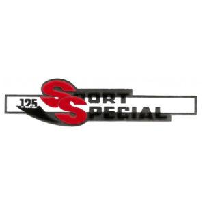 adesivo in pvc cromo per fianchetti o borsette MOTOBI 125 Sport Special