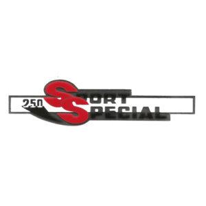 adesivo in pvc cromo per fianchetti o borsette MOTOBI 250 Sport Special