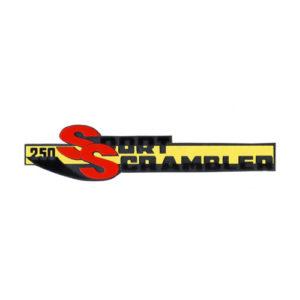 adesivo in pvc cromo per fianchetti o borsette MOTOBI 250 Sport Scrambler