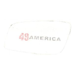 coppia adesivi in pvc cromo per fianchetti o borsette MOTOBI 49 America