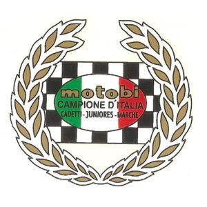 decalcomania trasferibile secco per serbatoio MOTOBI Campione d'Italia