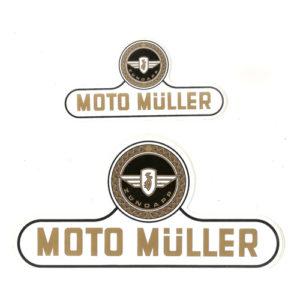 adesivo in pvc per serbatoio e fianchetti per moto MULLER motore ZUNDAPPP