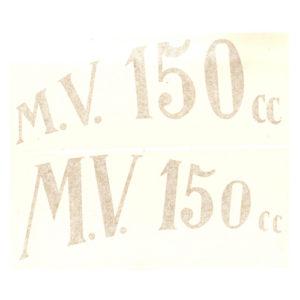 coppia adesivi in pvc per crestino MV 150 CC