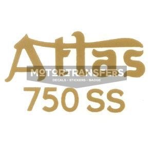 decalcomania trasferibile a secco per fianchetti moto NORTON Atlas 750 SS