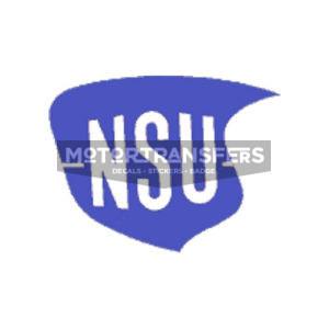 coppia decalcomanie trasferibili a secco per serbatoio moto NSU