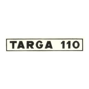 decalcomania trasferibile a secco per ciclomotore OSCAR Targa 110 , colore bianco o nero