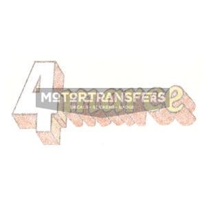 """adesivo in pvc, scritta """"4marce"""" per scudo Vespa 50 Special, anno 1975"""