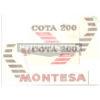 kit adesivi in pvc per moto MONTESA modello CAPPRA 125 VB