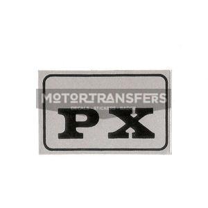 adesivo in pvc-cromo per parafango posteriore ciclomotore Ciao PX PIAGGIO
