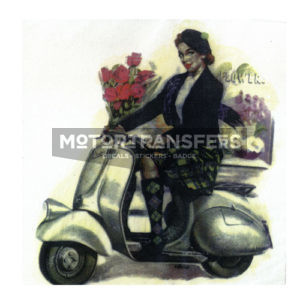 decalcomania trasferibile ad acqua per Vespa -Pin - Up
