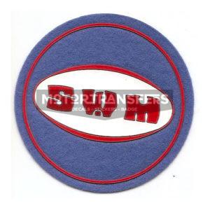 toppa in stoffa da incollare o cucire - logo SWM - originale anni '70