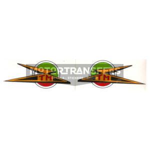 coppia adesivi in pvc per fianchetti moto TECNOMOTO