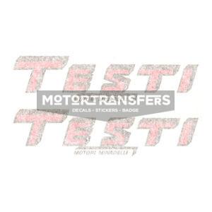 coppia adesivi in pvc per serbatoio ciclomotore sportivo TESTI