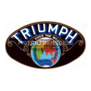 adesivo in pvc per serbatoio moto TRIUMPH periodo anni '20/'30